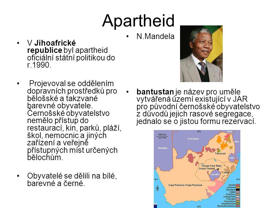 Apartheid N.Mandela.