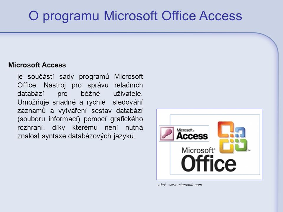 O programu Microsoft Office Access
