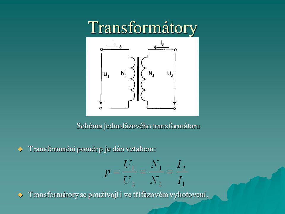 Schéma jednofázového transformátoru