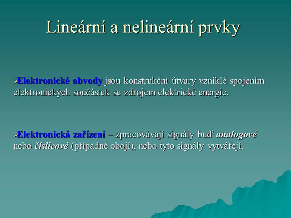 Lineární a nelineární prvky