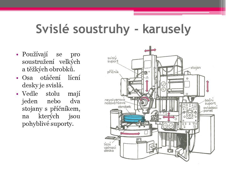 Svislé soustruhy - karusely