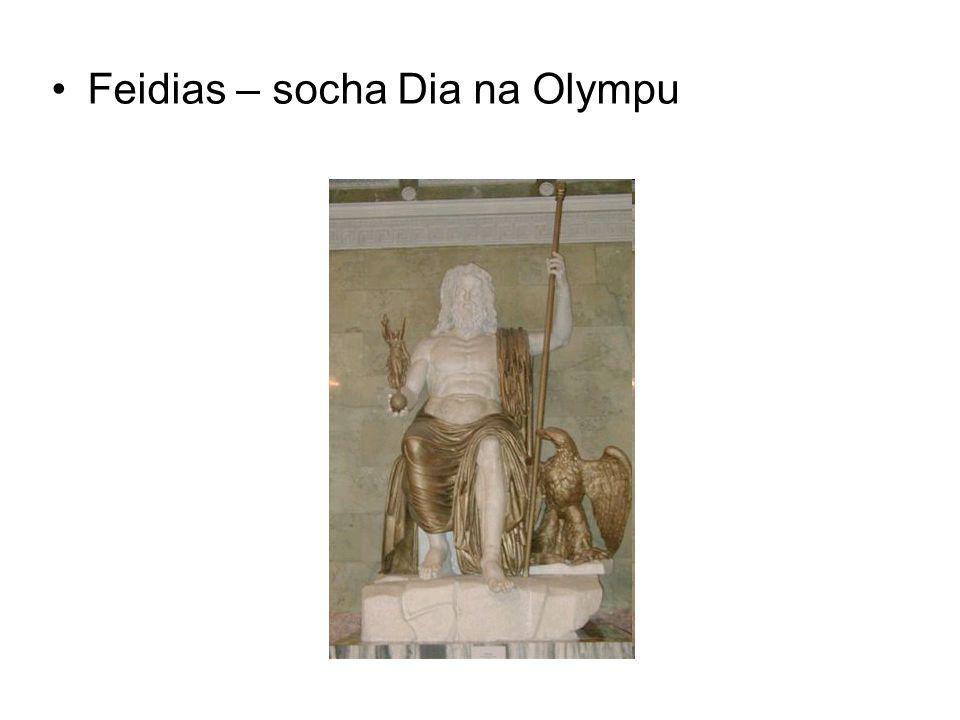 Feidias – socha Dia na Olympu