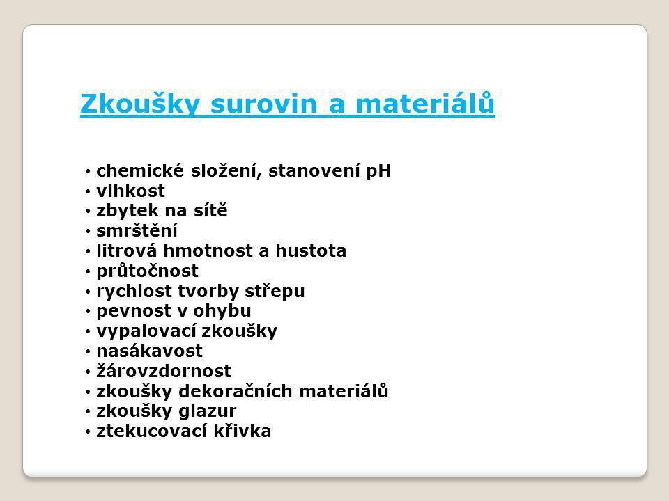Zkoušky surovin a materiálů