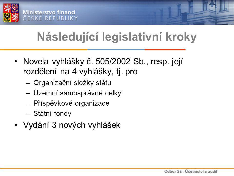 Následující legislativní kroky