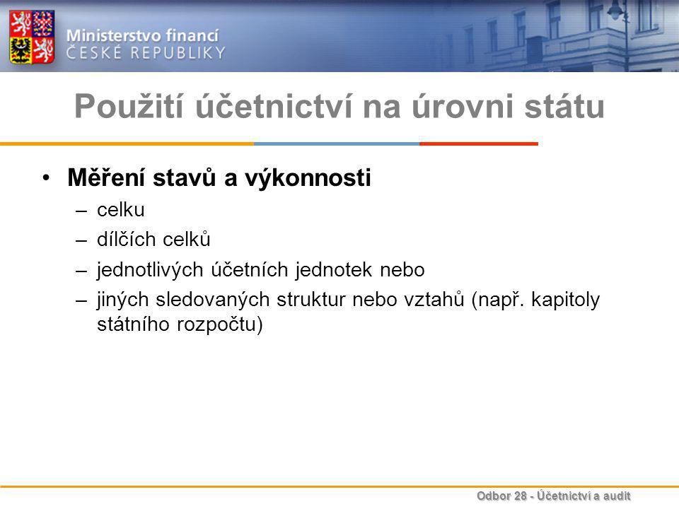 Použití účetnictví na úrovni státu