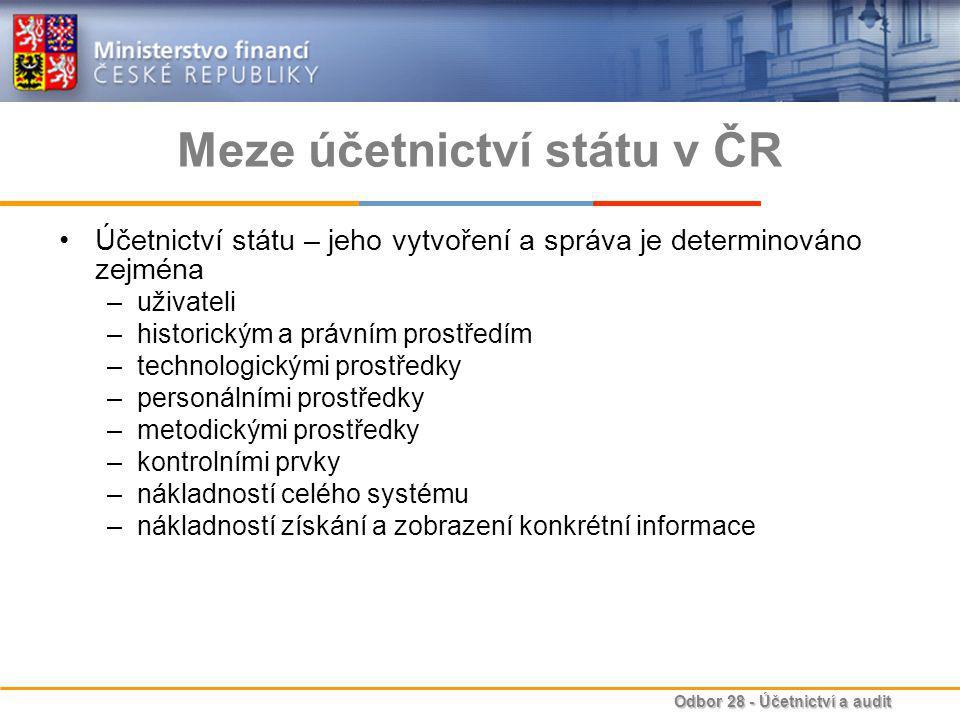 Meze účetnictví státu v ČR