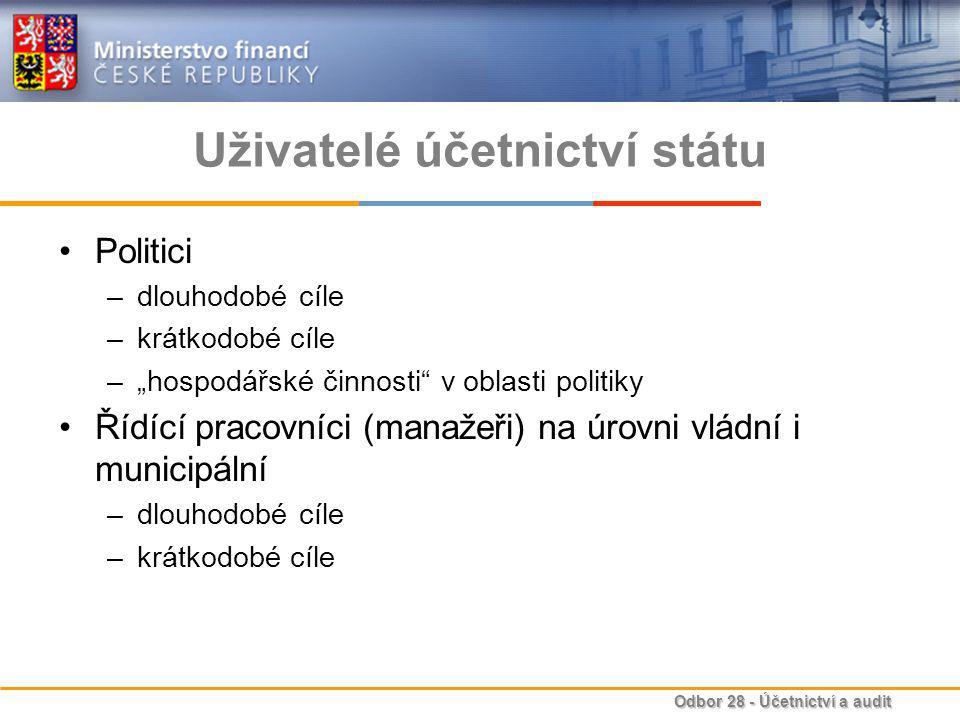 Uživatelé účetnictví státu