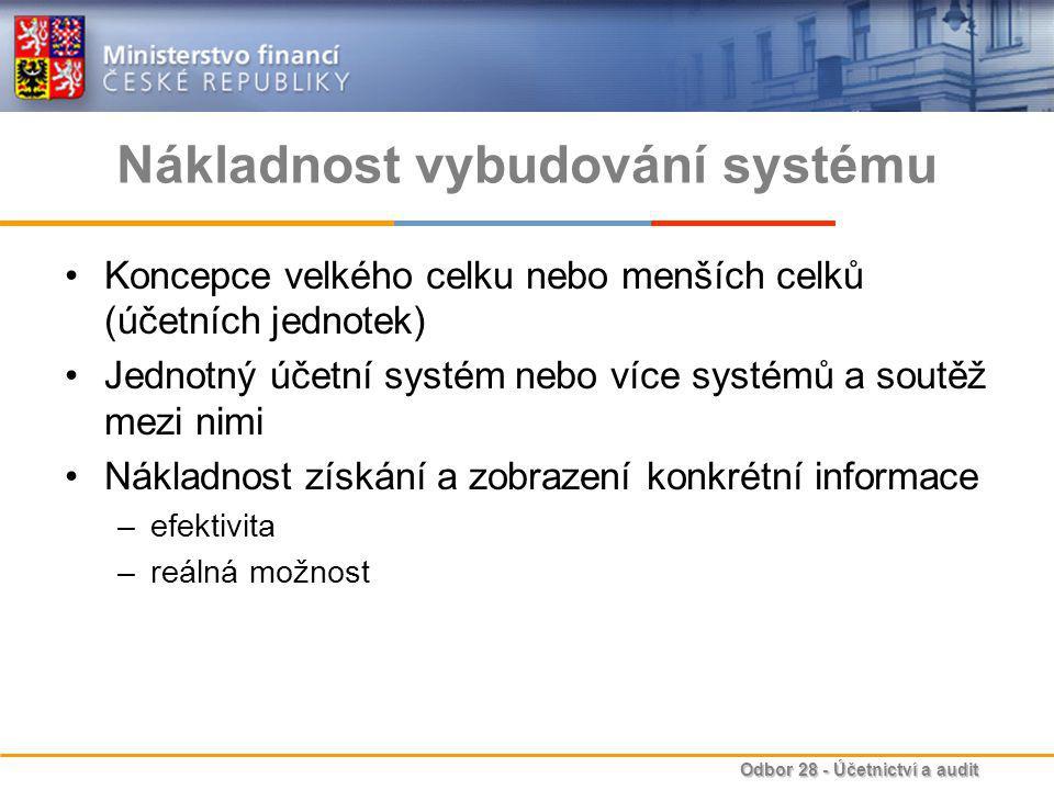 Nákladnost vybudování systému