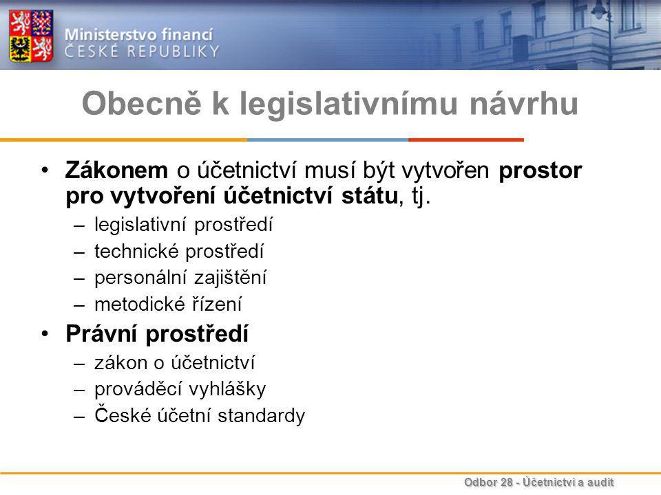 Obecně k legislativnímu návrhu