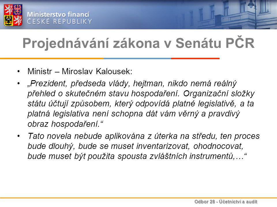 Projednávání zákona v Senátu PČR