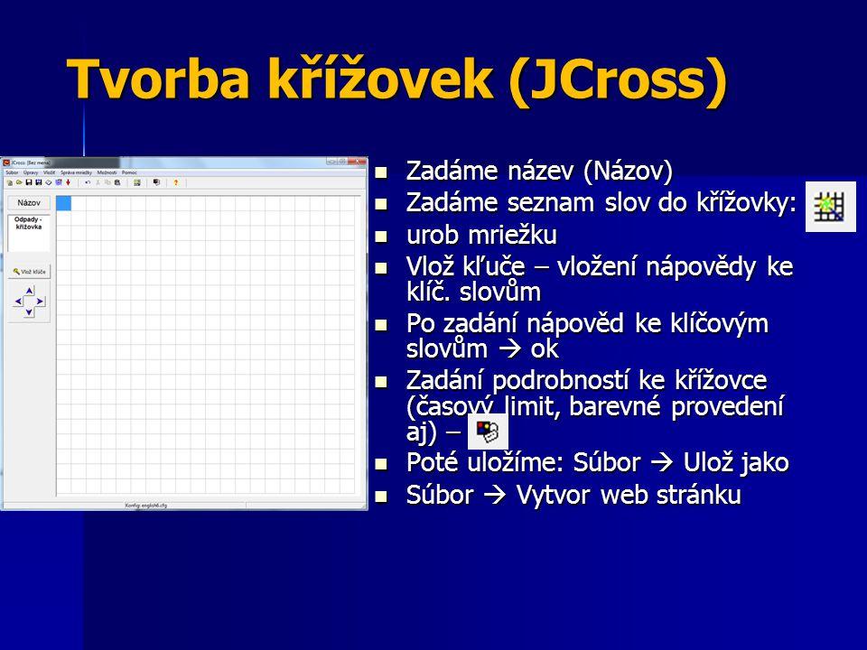 Tvorba křížovek (JCross)