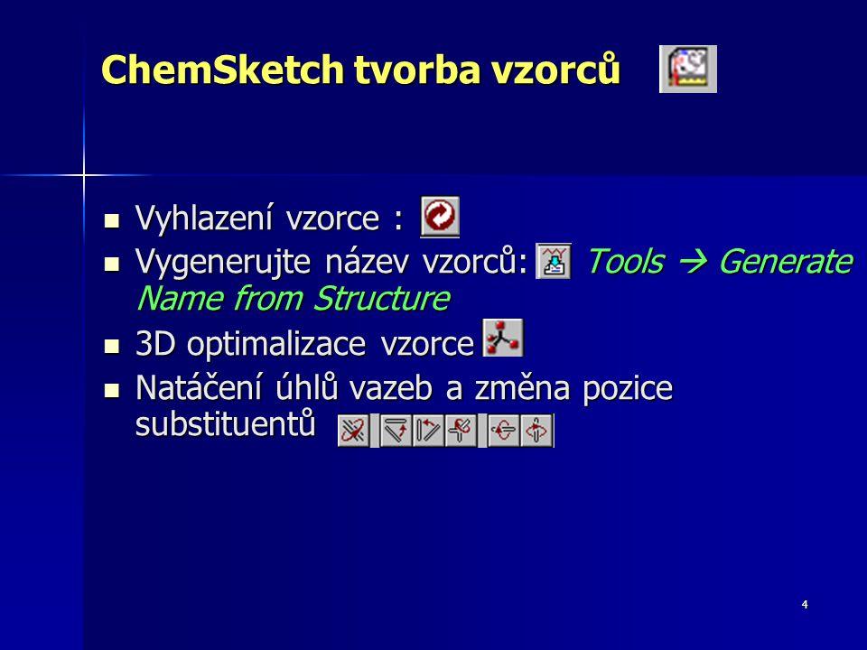 ChemSketch tvorba vzorců