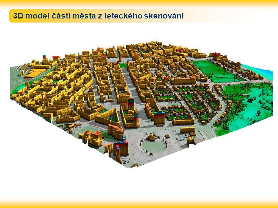 3D model části města z leteckého skenování