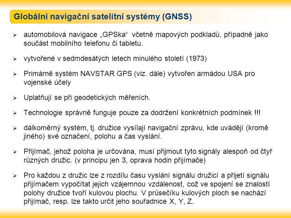Globální navigační satelitní systémy (GNSS)