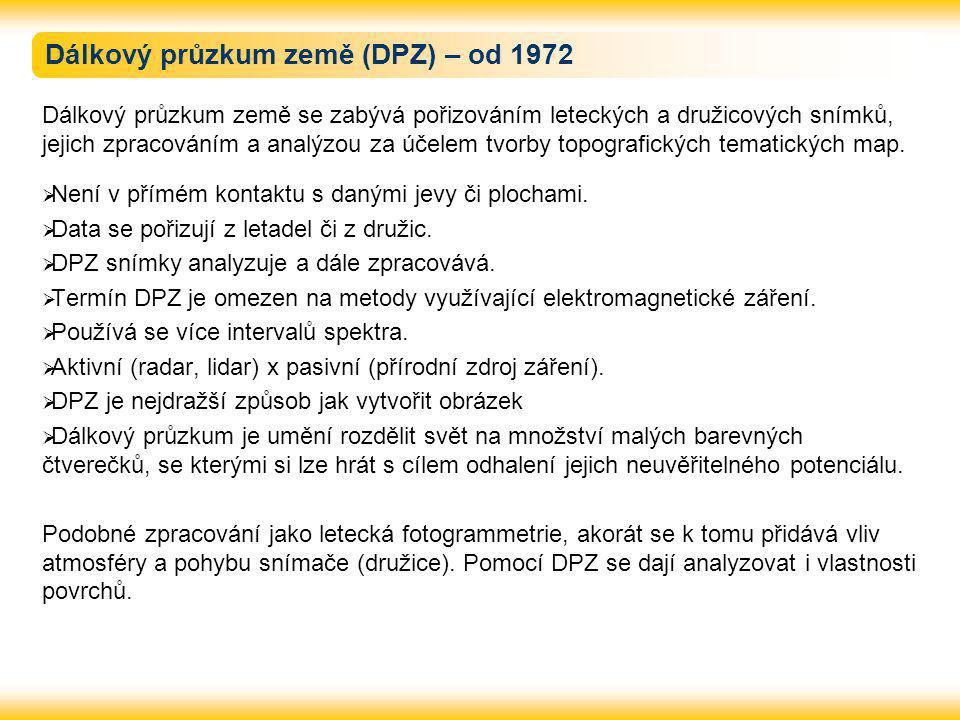Dálkový průzkum země (DPZ) – od 1972