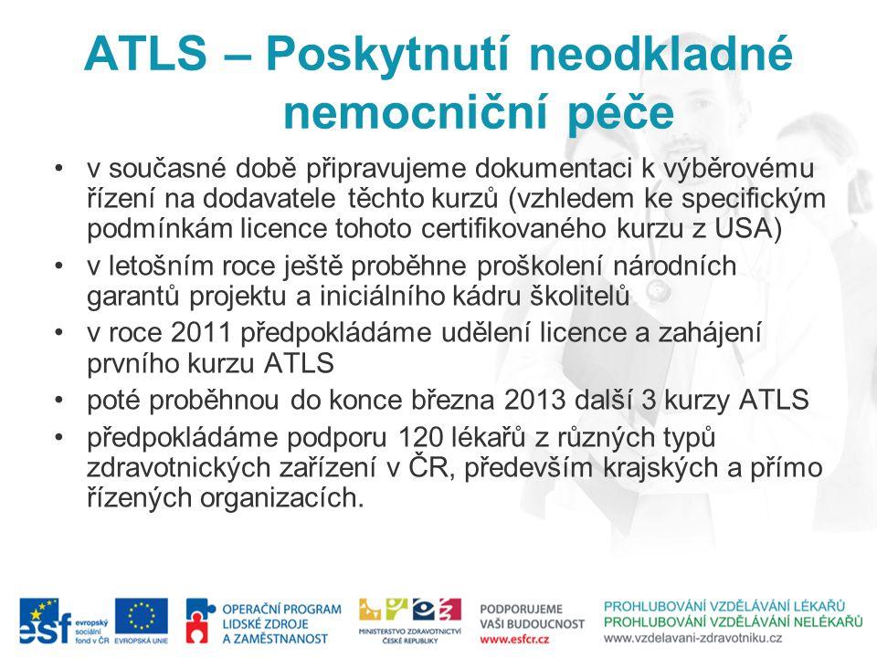 ATLS – Poskytnutí neodkladné nemocniční péče