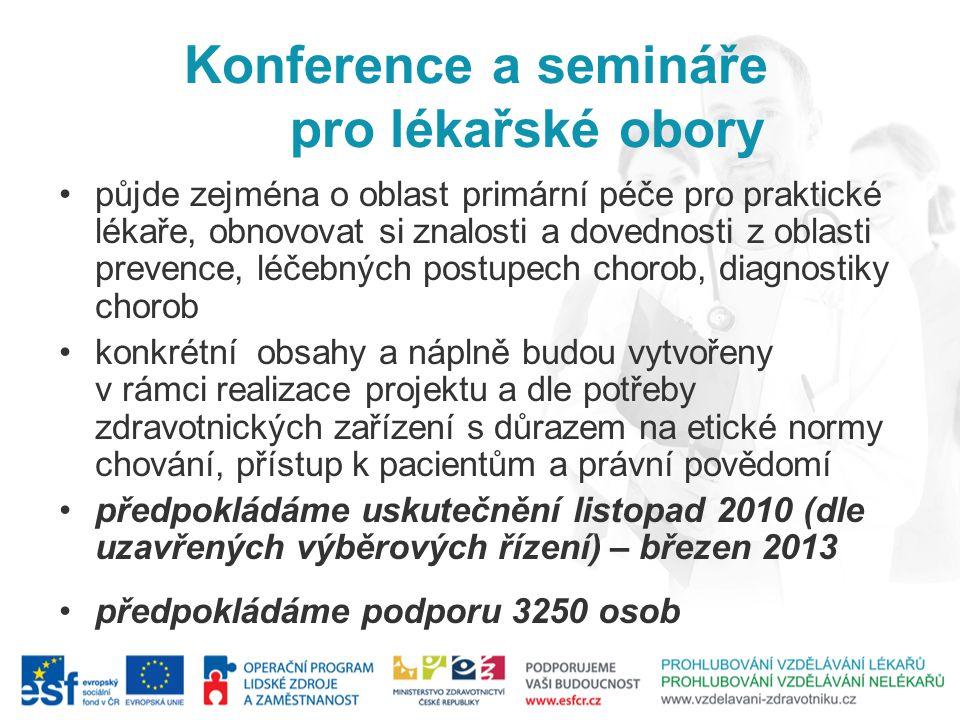 Konference a semináře pro lékařské obory