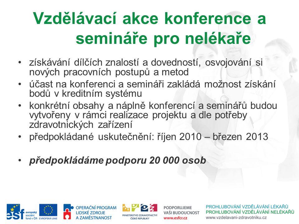 Vzdělávací akce konference a semináře pro nelékaře