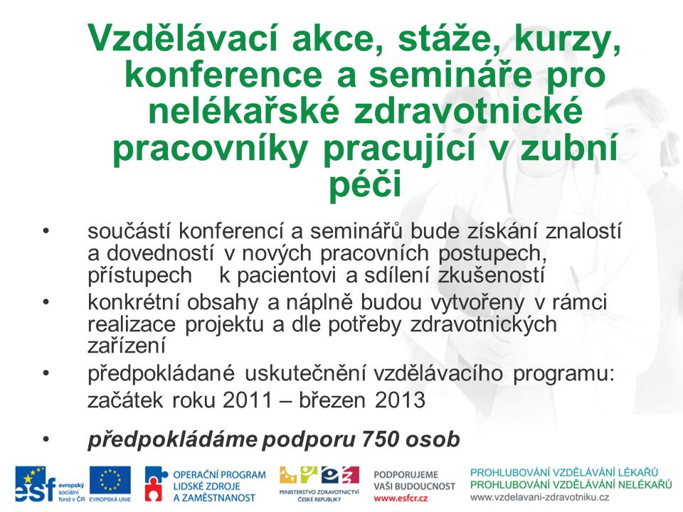 předpokládané uskutečnění vzdělávacího programu:
