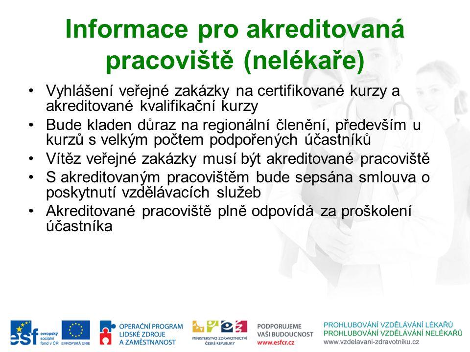 Informace pro akreditovaná pracoviště (nelékaře)