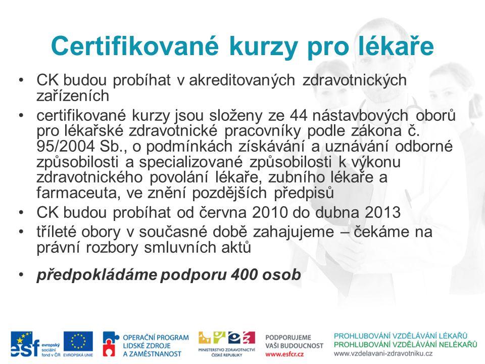 Certifikované kurzy pro lékaře