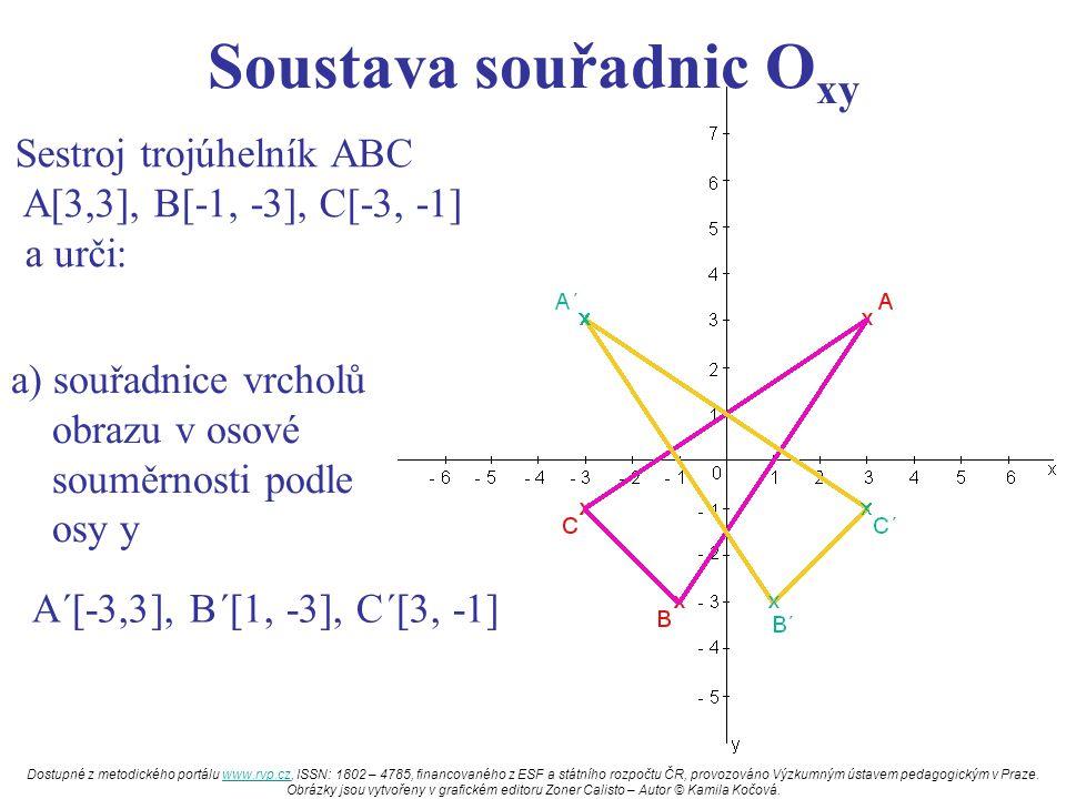 Soustava souřadnic Oxy