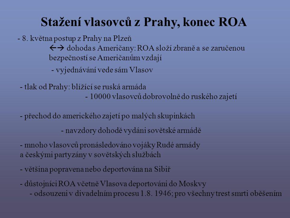 Stažení vlasovců z Prahy, konec ROA
