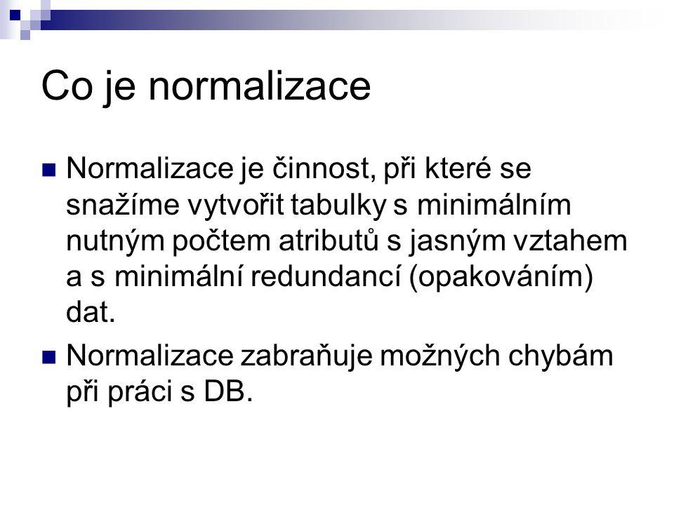 Co je normalizace
