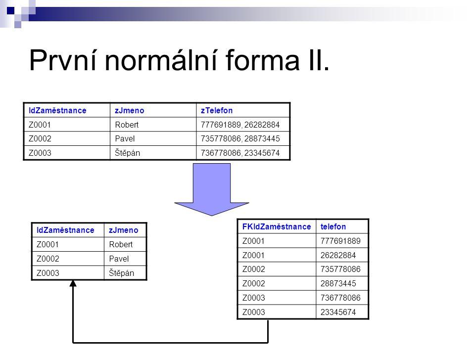 První normální forma II.