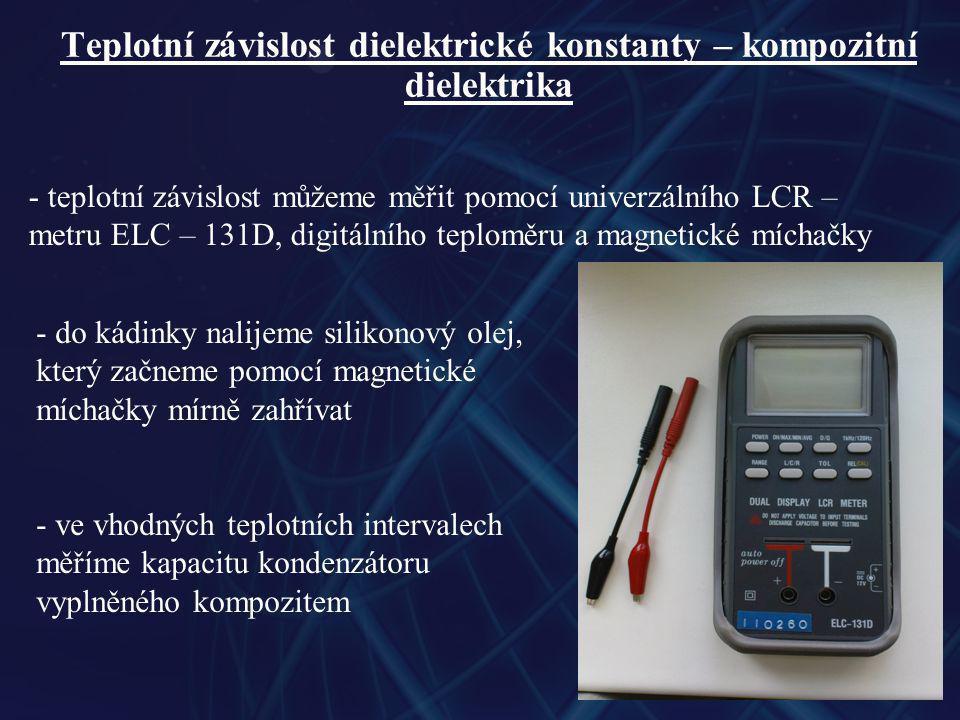 Teplotní závislost dielektrické konstanty – kompozitní dielektrika