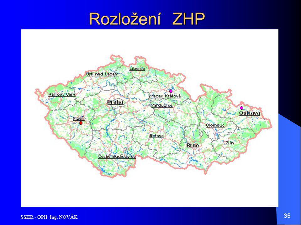 Rozložení ZHP SSHR - OPH Ing. NOVÁK
