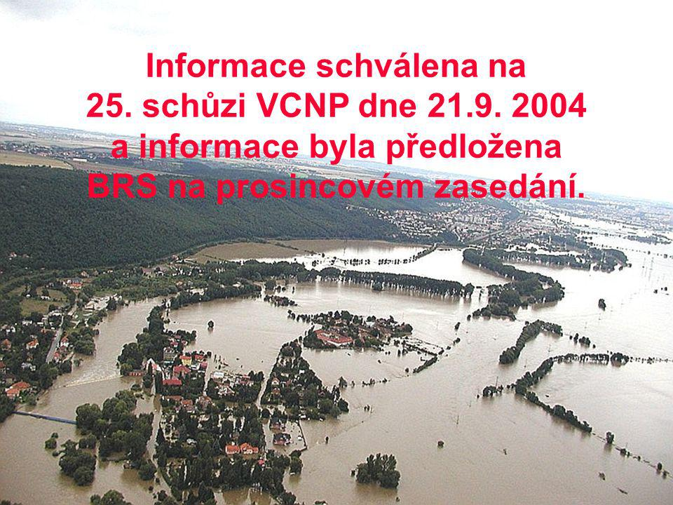 Informace schválena na 25. schůzi VCNP dne 21. 9