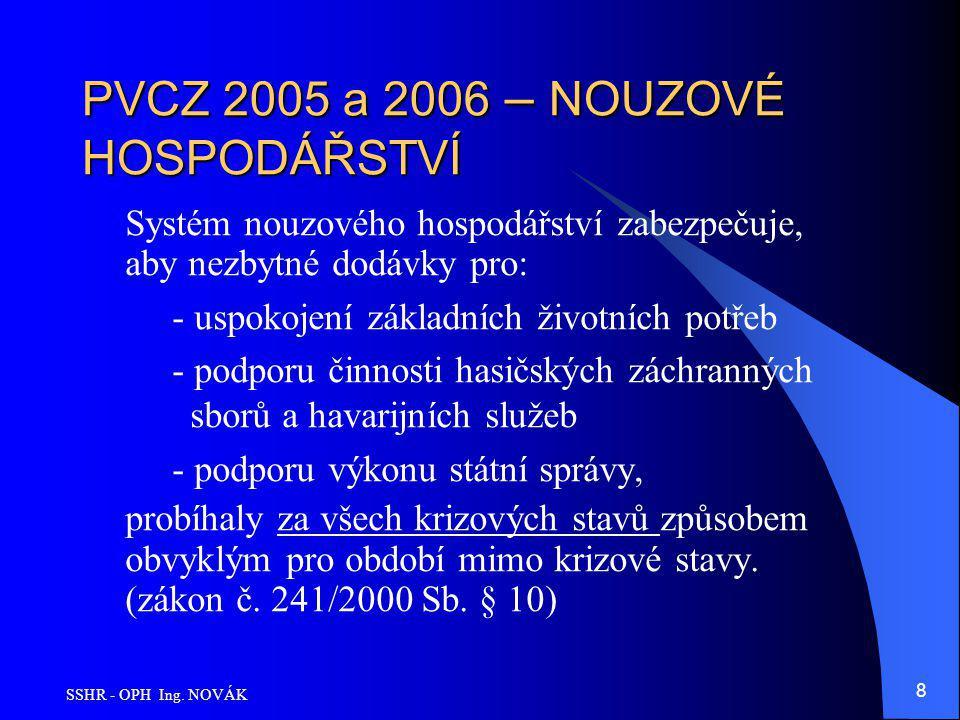 PVCZ 2005 a 2006 – NOUZOVÉ HOSPODÁŘSTVÍ