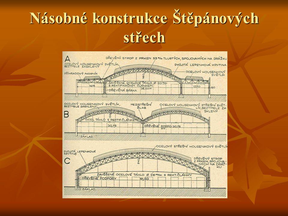 Násobné konstrukce Štěpánových střech