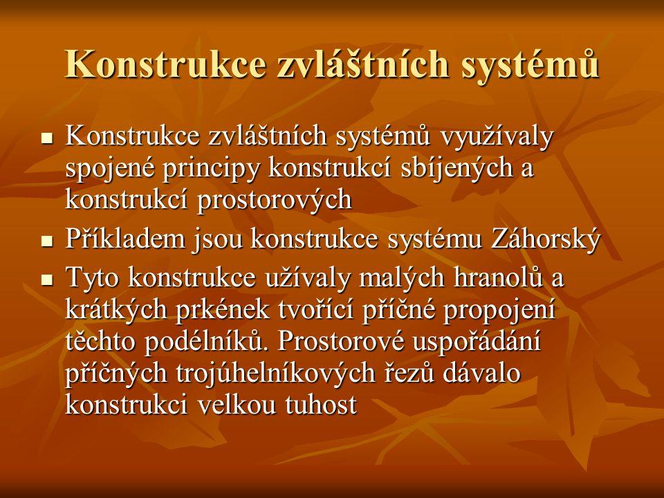 Konstrukce zvláštních systémů