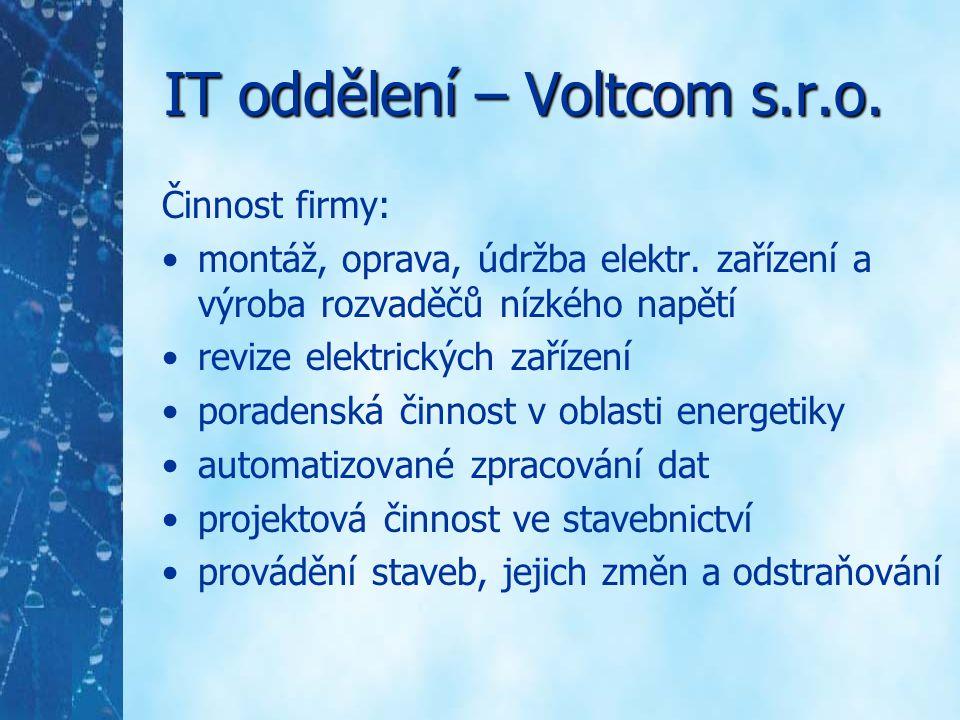 IT oddělení – Voltcom s.r.o.