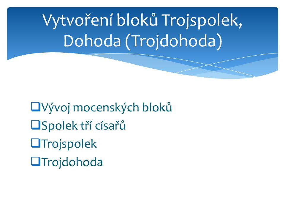 Vytvoření bloků Trojspolek, Dohoda (Trojdohoda)