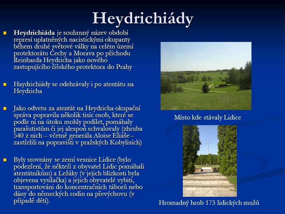 Místo kde stávaly Lidice