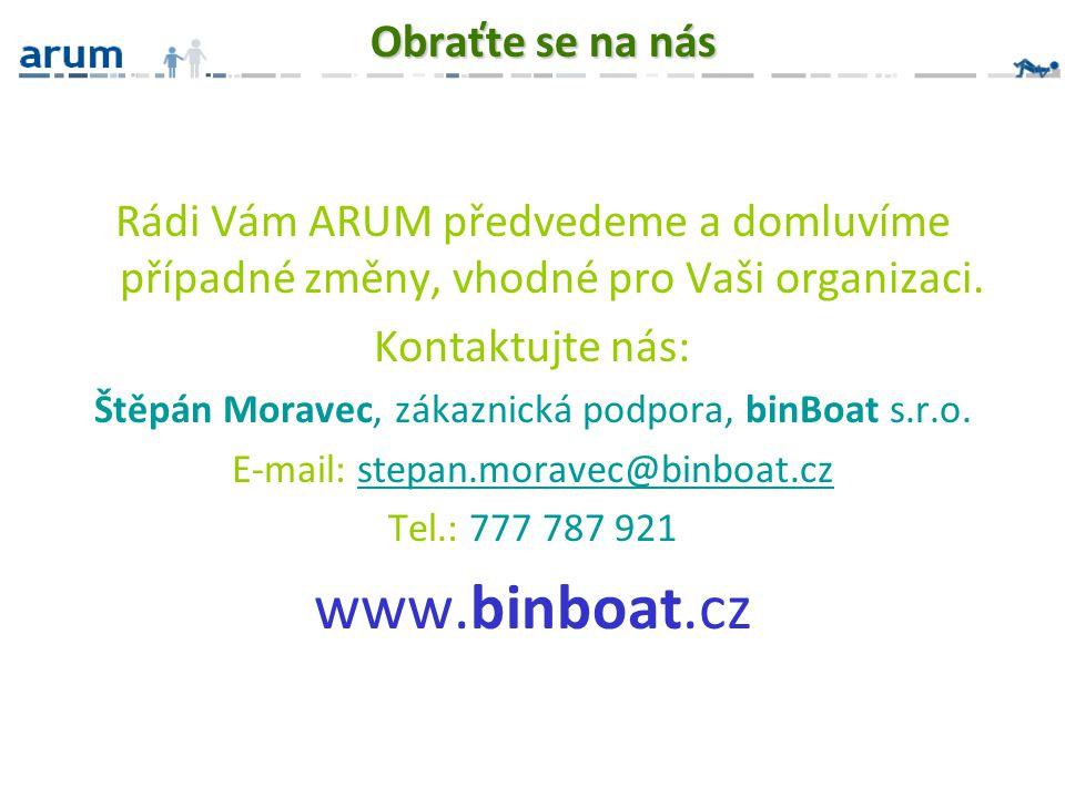 www.binboat.cz Obraťte se na nás