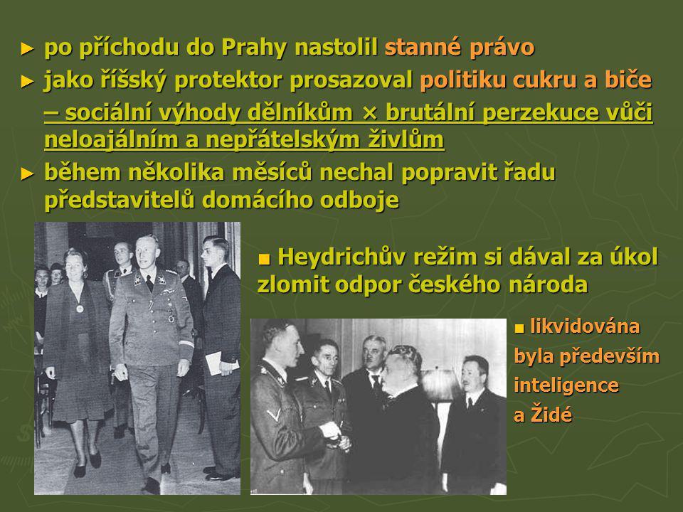 po příchodu do Prahy nastolil stanné právo