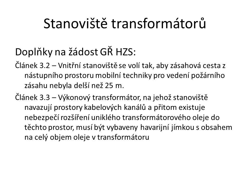 Stanoviště transformátorů