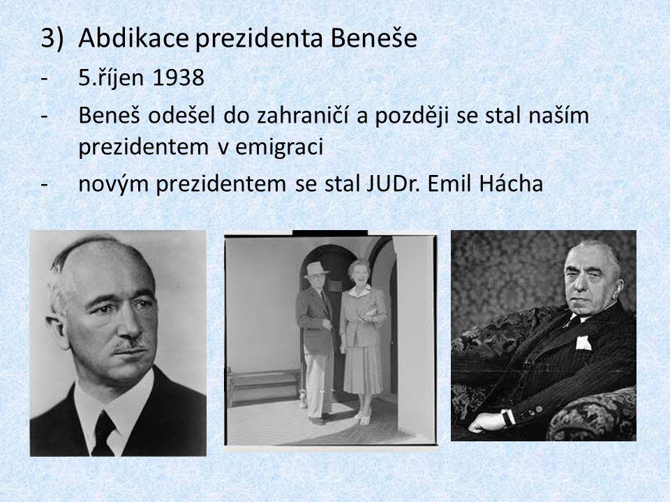 Abdikace prezidenta Beneše