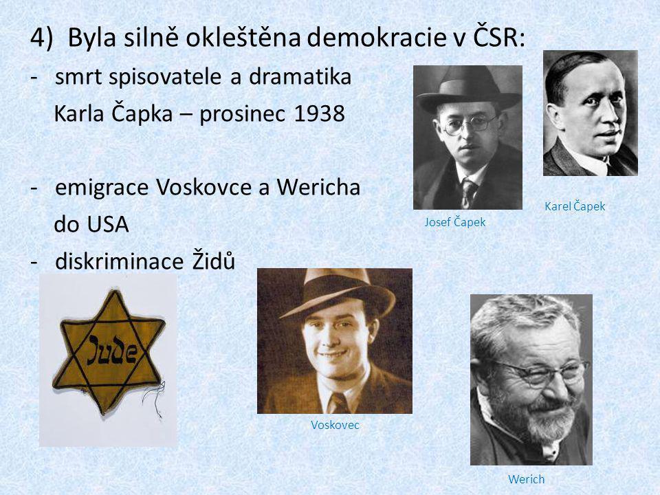 Byla silně okleštěna demokracie v ČSR: