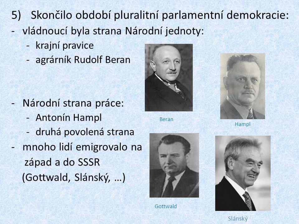 Skončilo období pluralitní parlamentní demokracie: