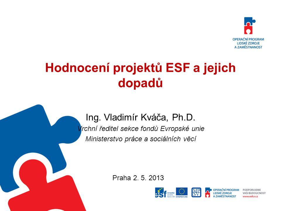 Hodnocení projektů ESF a jejich dopadů