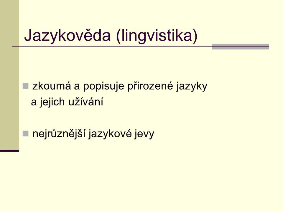 Jazykověda (lingvistika)