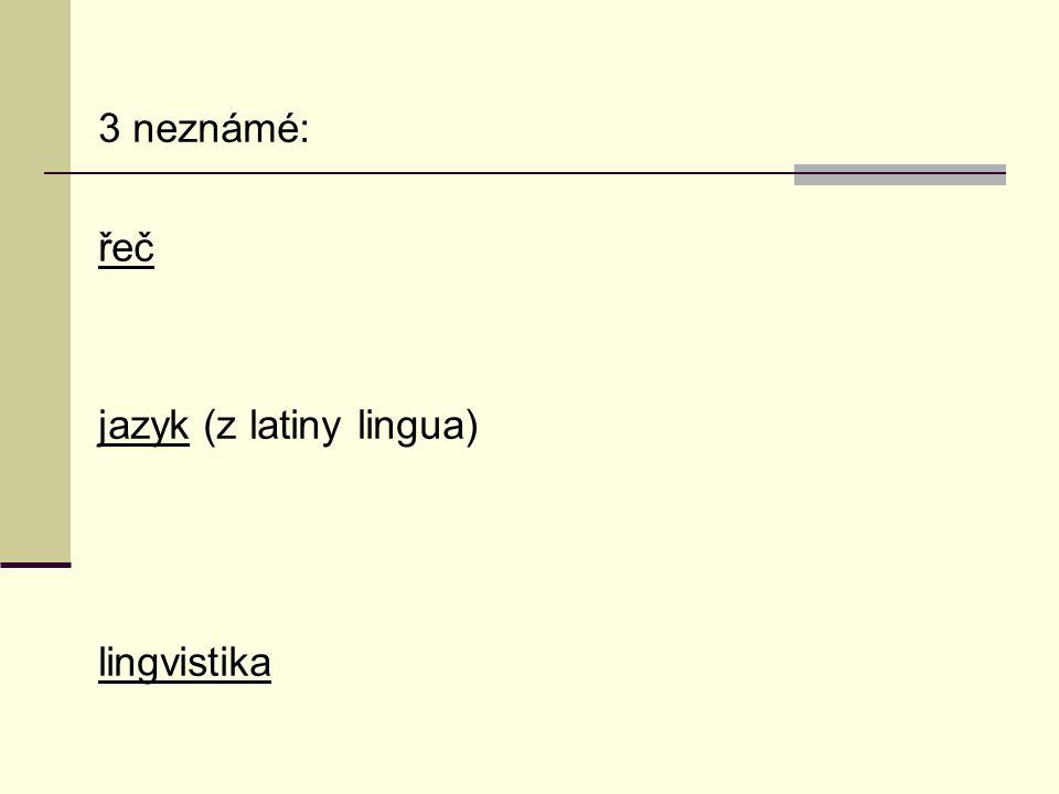jazyk (z latiny lingua)