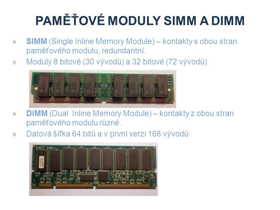 paměŤové moduly SIMM a DIMM