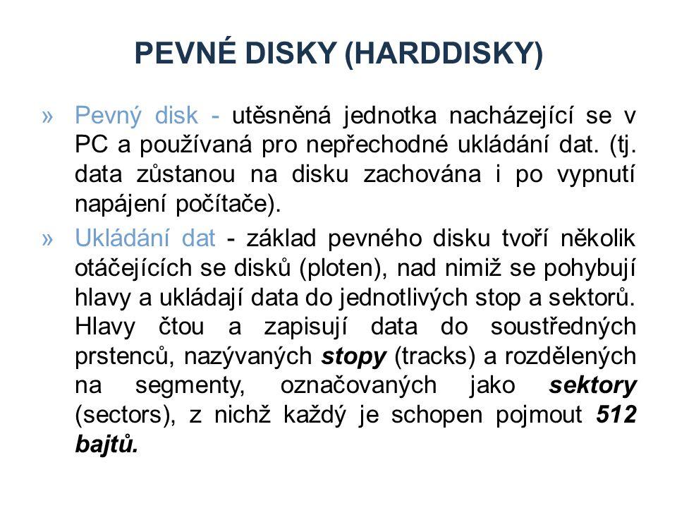 Pevné disky (Harddisky)