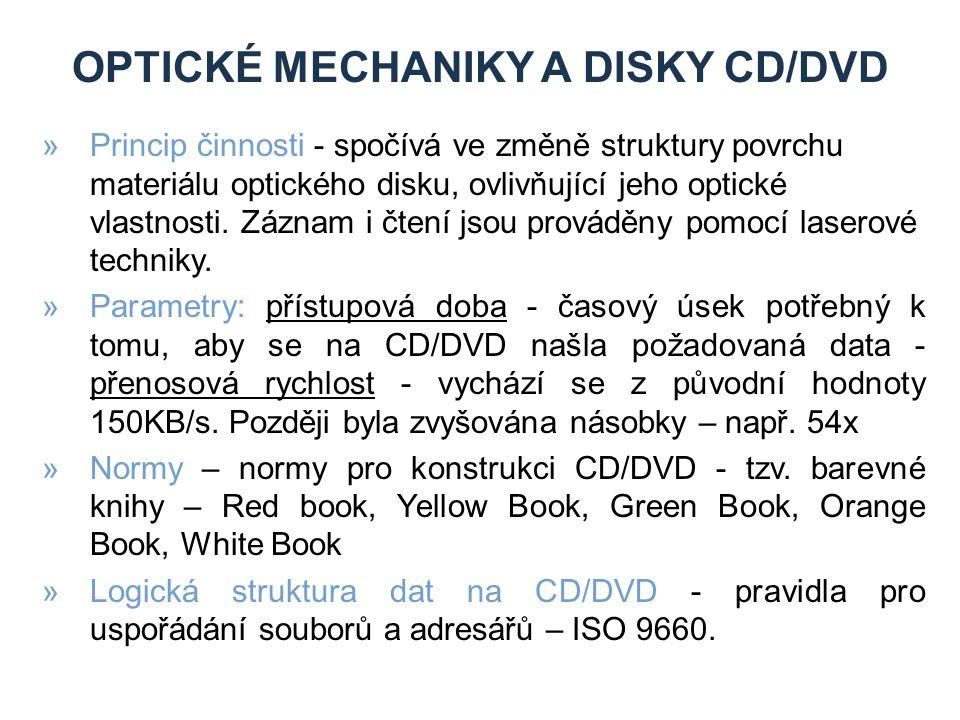 Optické mechaniky a dIskY CD/DVD